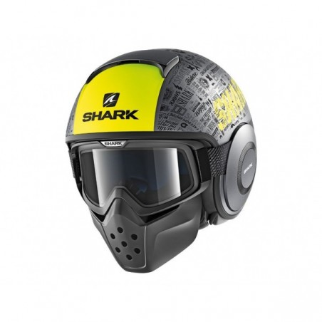 Shark Drak Tribute negru /gri galben mat
