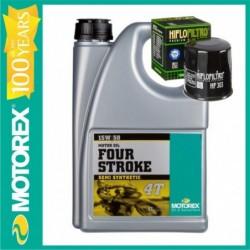 MOTOREX OFERTA  FOUR STROKE 15W50  4L + FILTRU ULEI GRATUIT