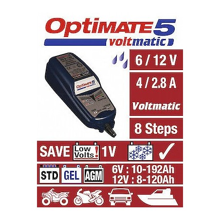 TECMATE  Redresor incarcator tester  OPTIMATE 5 VOLTMATIC