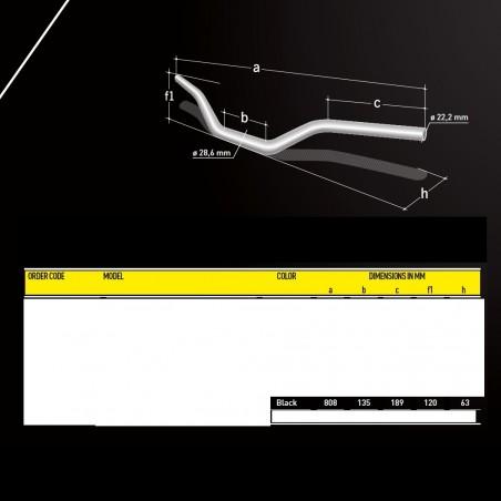 Ghidon Magura SX 28.6mm Negru