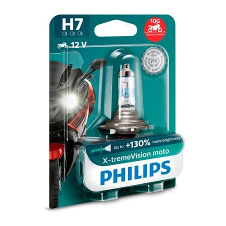 Bec halogen H7 12V 55W Philips X-treme Vision Moto +130%