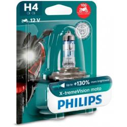 Bec halogen H4 12V 60/55W Philips X-treme Vision Moto +130%