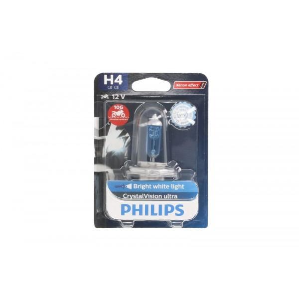 Bec halogen H4 12V 60/55W Philips Crystal Vision Moto