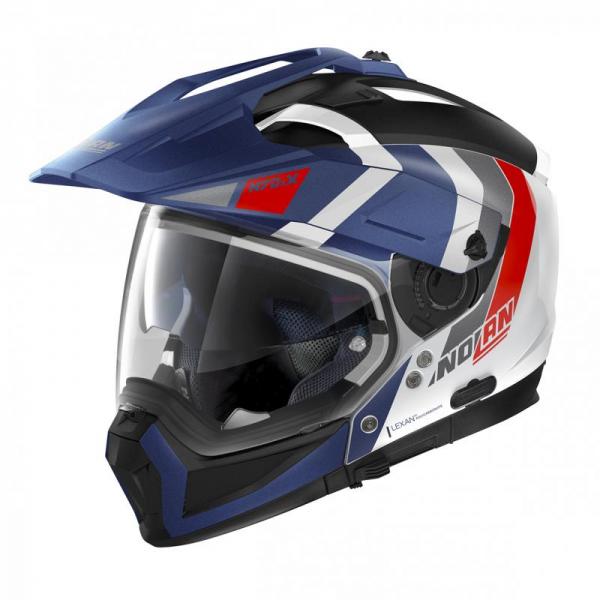 Casca moto Nolan Crossover N70-2 X Decurio N Com albastru/alb
