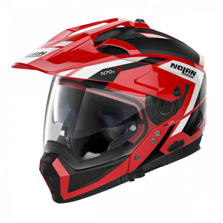 Casca moto Nolan Crossover N70-2 X Grandes Alpes N Com rosu/negru