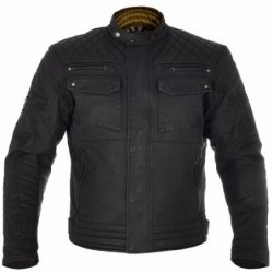 OXFORD - HARDY WAX BLK JACKET