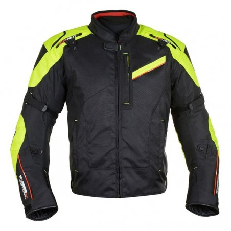OXFORD - ESTORIL 2.0 MEN SHORT JACKET BLACK/FLUO