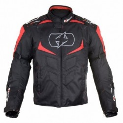 OXFORD - MELBOURNE 2.0 MEN SHORT JACKET BLACK/RED