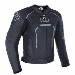OXFORD - STRADA LEATHER SPORTS JACKET STEALTH BLACK XL
