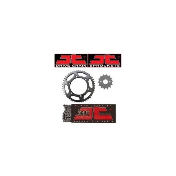 JT Sprocket KIT LANT - CAGIVA PLANET125 3-SPOKE - LANT 520 X1R2/116 + PINIOANE 14/43 -