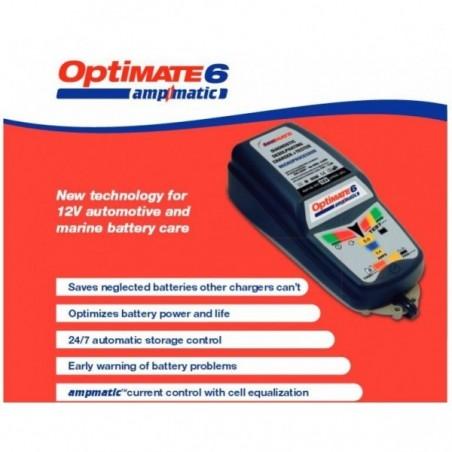 TECMATE  Redresor incarcator tester  OPTIMATE 6 AMPMATIC