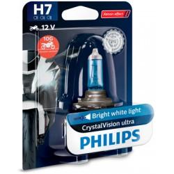 Bec halogen H7 12V 55W Philips Crystal Vision Moto