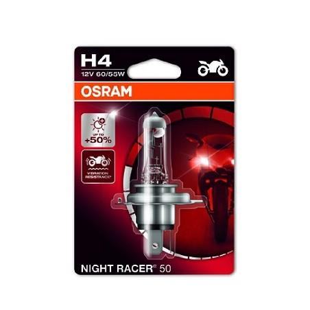 Bec halogen H4 12V 60/55W Osram Night Racer Moto +50%