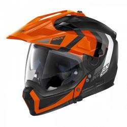 Casca moto Nolan Crossover N70-2 X Decurio N Com negru portocaliu