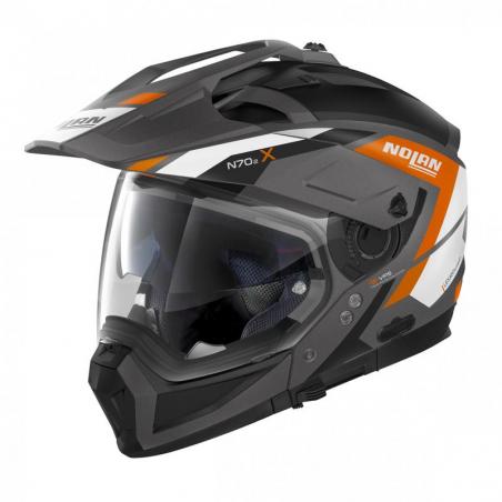 Casca moto Nolan Crossover N70-2 X Grandes Alpes N Com gri mat