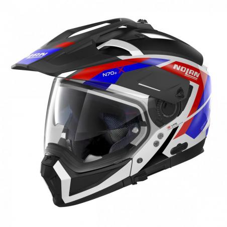 Casca moto Nolan Crossover N70-2 X Grandes Alpes N Com negru/albastru/alb