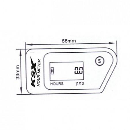 Contor ore functionare / Hour meter wireless resetabil
