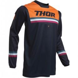 Tricou enduro cross Thor Pulse Pinner portocaliu/negru marimea L