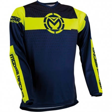 Tricou enduro cross Moose Racing Qualifier navy/fluo